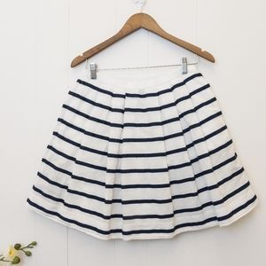 White & navy J Crew skirt size 6